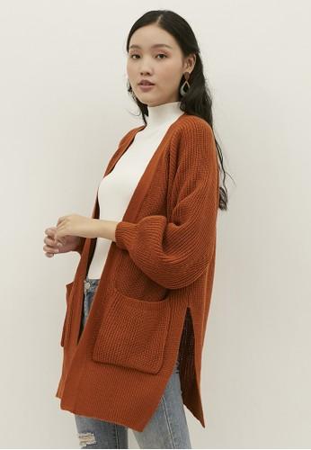 NOA EVERYDAY orange Noa Everyday Cardigan Rajut Wanita Etsuko Terracotta 8864BAA5C8EE41GS_1
