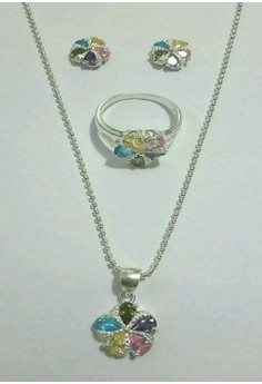 Multicolored Sets, Flower Design Jewelry