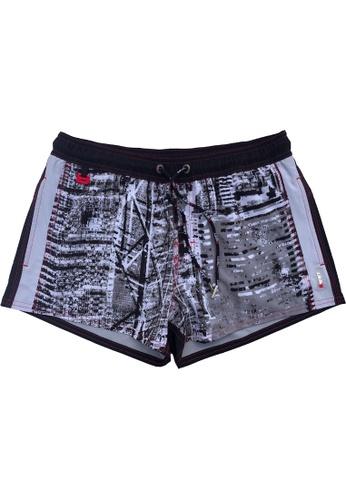 "BWET Swimwear 黑色 Eco-Friendly Quick dry UV protection Perfect fit Black Beach Shorts ""HKG"" Side pockets 52C41USD5E78F4GS_1"