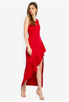 58e56e88e39 Preen   Proper One Shoulder Ruffle Maxi Dress RM 315.00. Sizes XS S M L XL