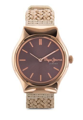 zalora鞋R2351113501 Joey 編織帶女錶, 錶類, 飾品配件