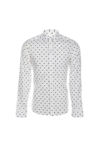 Kenzo white Kenzo Eye Print Shirt in White A6AADAA86960FEGS_1