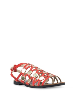 0972268c85b 35% OFF River Island 7412 Simple Cage Stud Sandals RM 235.00 NOW RM 151.90  Available in several sizes