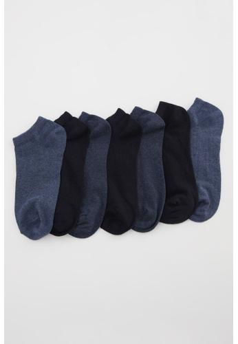 DeFacto navy Man 7-pieces Low Cut Socks 9D65BAA2AE3F45GS_1