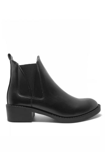Twenty Eight Shoes 黑色 貼腳橡根靴子1593 74307SHC6BAB27GS_1