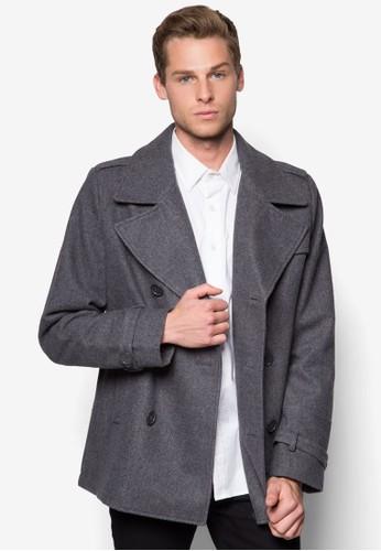 雙排鈕羊毛外套, 服飾zalora 台灣, 外套