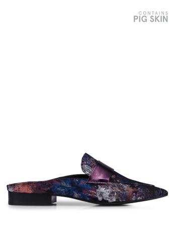 E8 by Miista 紫色 Lovisa 綢緞懶人鞋 08D1DSH763B8E6GS_1