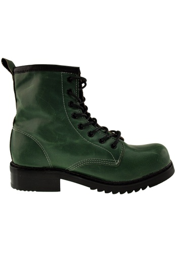 Maxstar green Maxstar Women's 303 Lace Up Mid Calf PU Combat Boots US Women Size MA164SH81QSCSG_1