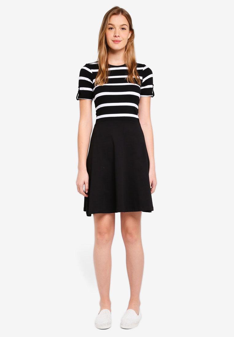 Shirt Dress T Dorothy Black Black Perkins White Stripe tq8zg