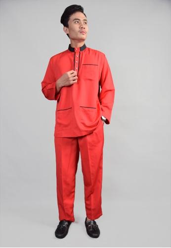 Denai Boutique red Baju Melayu Salahuddin 2C277AA3F4F52BGS_1