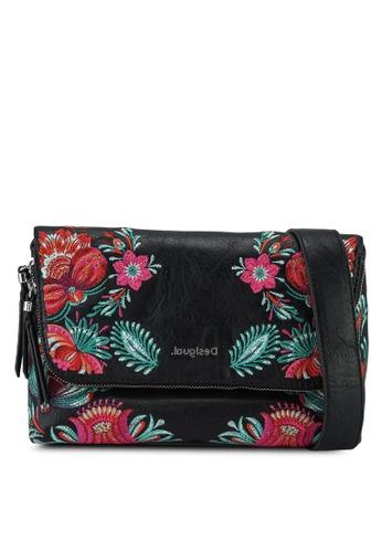 Desigual black Embroidery Crossbody Bag 3447BAC4D33419GS_1