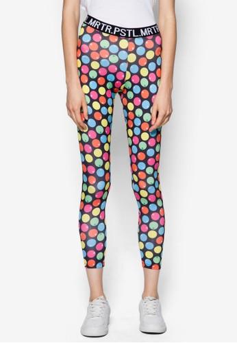 彩色點點內搭褲zalora 心得, 服飾, 長褲及內搭褲