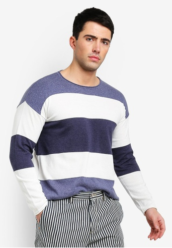 United Colors of Benetton multi Striped Knit Sweater E412AAAC70D9EBGS_1
