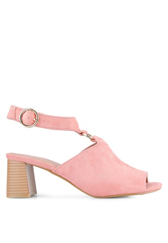 TOPSHOP pink DAZZLE Ring Sandals TO412SH0RV6ZMY_1