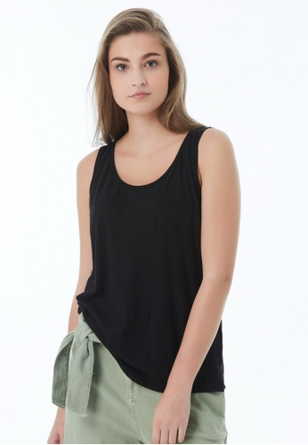 United Colors of Benetton black Round Neck Tank Top AAF87AA53C305AGS_1