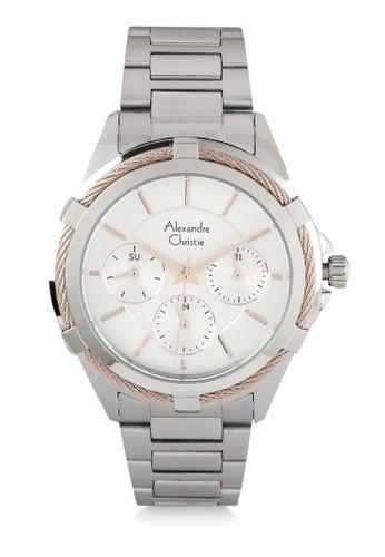 Alexandre Christie silver Alexandre Christie Jam Tangan Wanita - Silver Rosegold - Stainless Steel - 2841 BFBSSSLRG EAD5BACA3F1A46GS_1