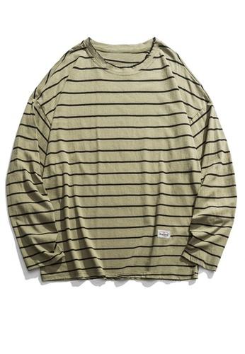 Twenty Eight Shoes Loose Contrast Stripe Long T-shirt HH9676 9011CAAC44F485GS_1