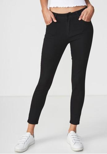 Cotton On black mid rise grazer skinny jean 2 920D1AADF6D2B1GS_1