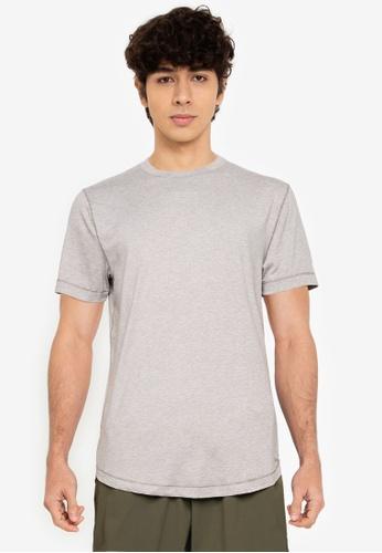Abercrombie & Fitch grey Air Knit Crew T-Shirt 69D7CAA5DA89FCGS_1