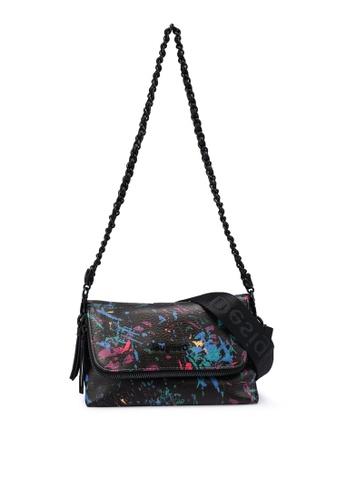 Desigual black Printed Flap Mini Bag A2CAEAC154EE53GS_1