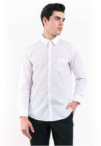 MANLY white MANLY Girbert White Regular Fit Striped Shirt Long Sleeve AC265AAB7DE607GS_1