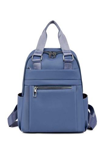 Lara blue Women's Light-weight Durable Oxford Cloth Zipper Backpack - Blue 42A2EAC7D154AFGS_1