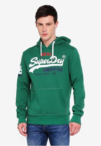 Superdry 綠色 LOGO帽T F6C61AA65D370EGS_1