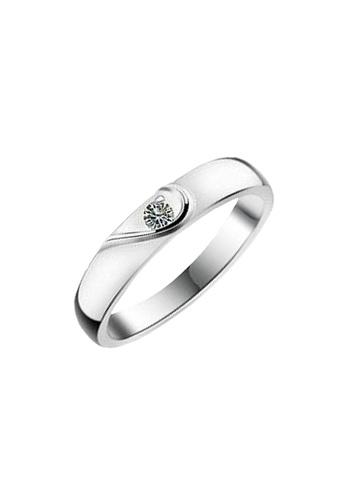 Elfi silver Elfi 925 Genuine Silver Engagement Ring T25 - The Significant Half EL186AC46NGNMY_1