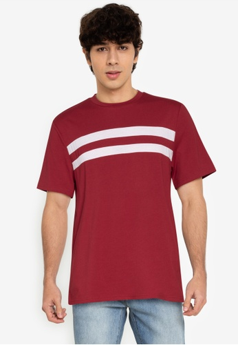 ZALORA BASICS multi Chest Stripe T-Shirt 95C25AA42D0880GS_1