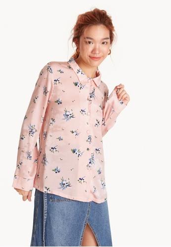 Pomelo pink Floral Pyjama Shirt 123FAAA218FA5AGS_1