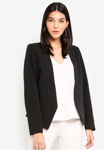 Pieces black Ivana Long Sleeve Blazer 9E49EAA80FA6B5GS_1