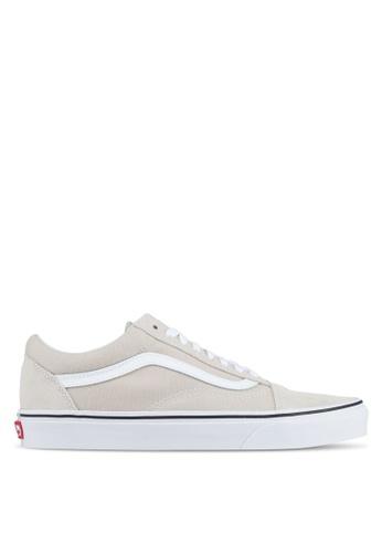 VANS grey and white Old Skool Sneakers VA142SH0SWQ0MY_1