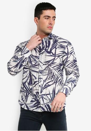 MANGO Man blue Regular-Fit Cotton Linen-Blend Shirt 2B4AAAAC7D683AGS_1