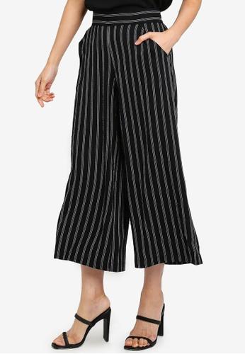 Max Studio black Woven Stripe Pants CF994AA905A584GS_1