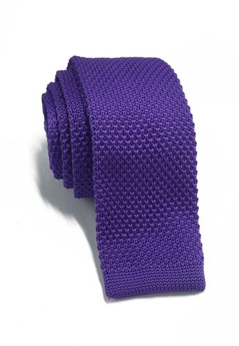 Splice Cufflinks Interlace Series Purple Knitted Tie SP744AC94KSZSG_1