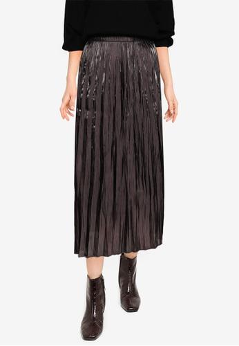 LOWRYS FARM grey Casual Woven Skirt 7A19CAA7FD8816GS_1