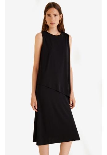 Mango black Double Layer Dress 3EECEAA2C67CA5GS_1