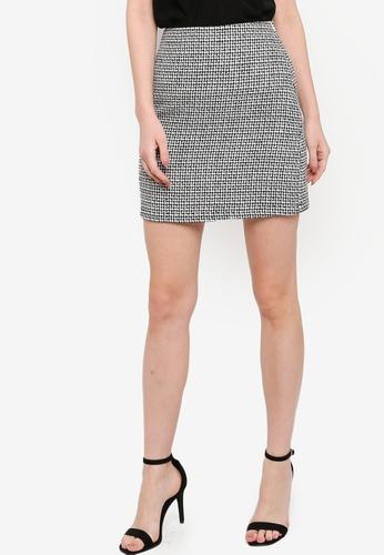 ZALORA WORK multi Tweed Mini Skirt E96E2AAA444E01GS_1