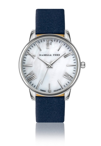 Isabella Ford white Isabella Ford Serenity Blue Leather Women Watch 3E81AACA89B4FEGS_1