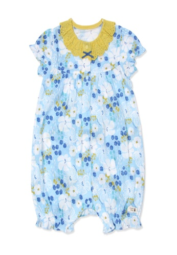 Organic mom blue Organic Cotton James Sandy Floral Onesie D4F38KA28573C9GS_1