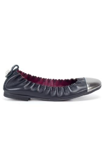 Shu Talk 黑色 雙色花邊芭蕾舞平底鞋 SH544SH0ABN6TW_1
