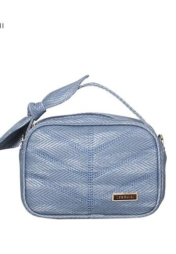 Verchini blue Verchini Top Zip Bow Sling Bag D7976ACBFCD49AGS_1
