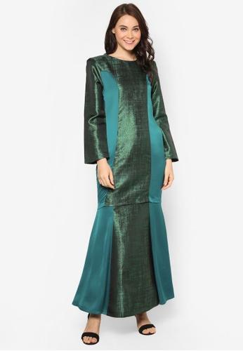 Butik Sireh Pinang green Baju Kurung Moden Anggun BU003AA15NPOMY_1