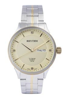 ... Rhythm GS1603S 05 - Jam Tangan Pria - Stainless - Silver Gold