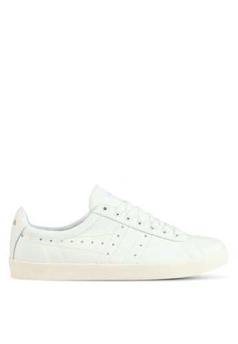 Gola white Tourist Leather Sneakers 520FCSHB2DBBF9GS_1