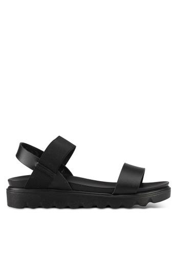 Mimosa black Casual Wedge Sandals 8EC55SH2DB18B3GS_1