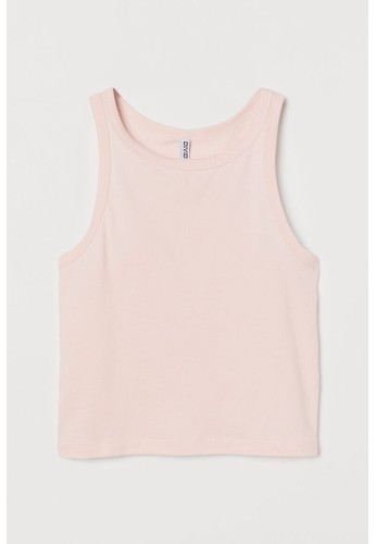 H&M pink Cotton vest top B9127AA312565EGS_1
