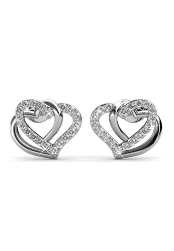 Her Jewellery silver Vena Love Earrings -  Made with premium grade crystals from Austria HE210AC0GRBGSG_1