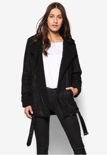 Colleesprit 寢具ction 羊毛內襯機車外套, 服飾, 外套