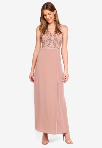 Angeleye pink Pink Sleeveless Embellished Dress CFA7AAA60462FDGS_1